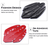 4pcs TRD Sport Carbon Fiber Car Door Anti Collision Strip Guards Doors Side Protector