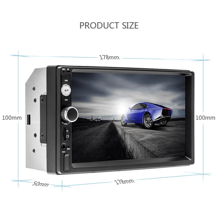 "Reverse Camera 7018B 7""Inch Double 2 DIN Car FM Stereo Radio Bluetooth MP5 Player USB/TF Backup Reverse Camera"