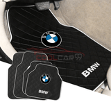 BMW Red BMW Car Carpet Latex Floor Mats Foot Mats 5Pcs