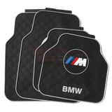 M Sport White BMW Car Carpet Latex Floor Mats Foot Mats 5Pcs