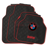 RED BMW Car Carpet Latex Floor Mats Foot Mats 5Pcs