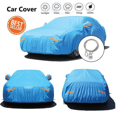 Car Cover Thicken Cotton Car Covers Protection Resistant Waterproof Rain Dust
