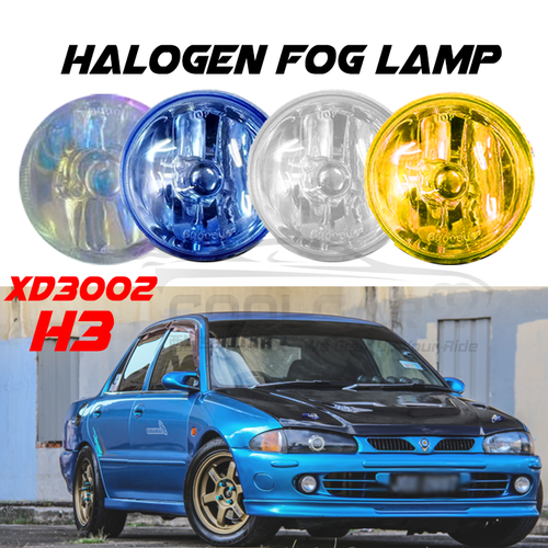 Car Proton Wira XD3002 High-Quality Halogen Round Driving Spot Light H3 12V
