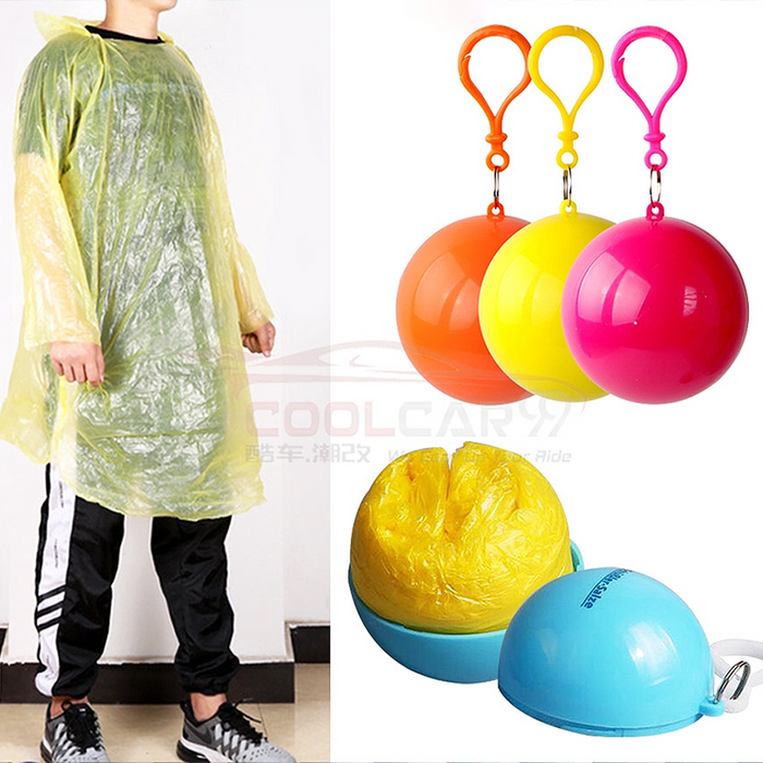 Car Raincoat Disposable Poncho Waterproof Unisex Transparent Cover Plastic Rain Coat Adult Plastik Baju Hujan