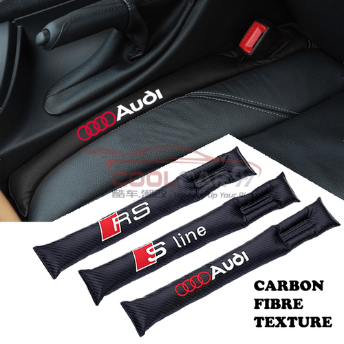 Car Seat Organizer PS-02-CK Audi RS SLine Carbon Fiber Car Seat Gap Leak-Proof Plug 1pcs