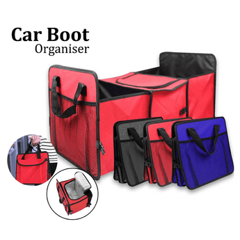 Car Seat Organizer Car Boot Storage Foldable Bag Organiser with Cooler and Insulation Compartment