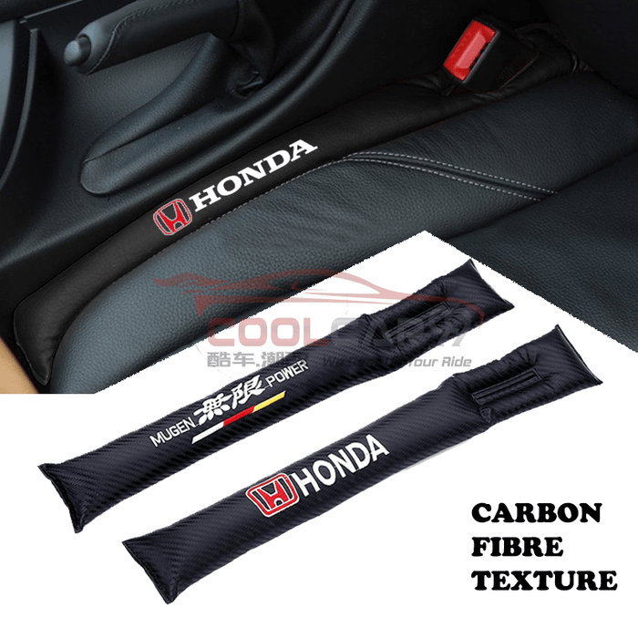 Car Seat Organizer Honda Honda Mugen Carbon Fiber Car Seat Gap Leak-Proof Plug 1pcs