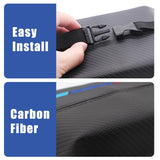 Car Seat Organizer Honda Mugen Carbon Fiber Leather Car Tissue Box Cover