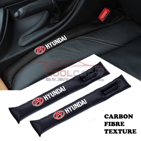 Car Seat Organizer Hyundai Hyundai Carbon Fiber Car Seat Gap Leak-Proof Plug 1pcs