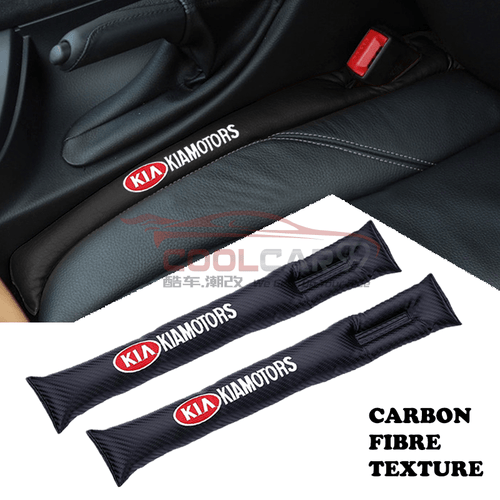 Car Seat Organizer KIA KIA Carbon Fiber Car Seat Gap Leak-Proof Plug 1pcs