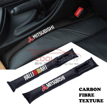 Car Seat Organizer Mitsubishi Mitsubishi Ralliart Carbon Fiber Car Seat Gap Leak-Proof Plug 1pcs