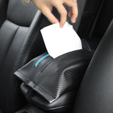 Car Seat Organizer NISSAN NISMO Carbon Fiber Leather Car Tissue Box Cover