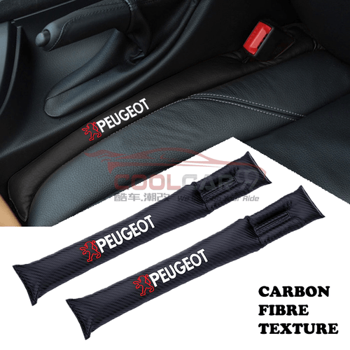 Car Seat Organizer Peugeot Peugeot Carbon Fiber Car Seat Gap Leak-Proof Plug 1pcs