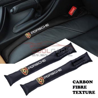 Car Seat Organizer Porsche Porsche Carbon Fiber Car Seat Gap Leak-Proof Plug 1pcs