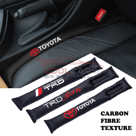 Car Seat Organizer Toyota Toyota TRD Carbon Fiber Car Seat Gap Leak-Proof Plug 1pcs