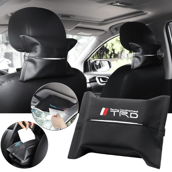 Car Seat Organizer TOYOTA TRD Carbon Fiber Leather Car Tissue Box Cover