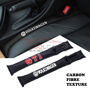 Car Seat Organizer Volkswagen Volkswagen GTI Carbon Fiber Car Seat Gap Leak-Proof Plug 1pcs