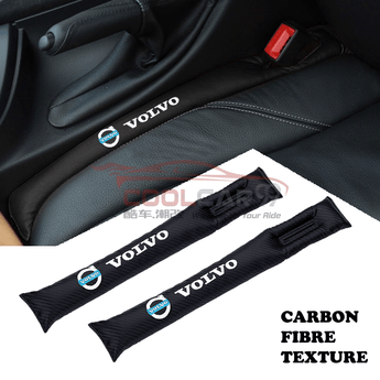 Car Seat Organizer Volvo Volvo Carbon Fiber Car Seat Gap Leak-Proof Plug 1pcs