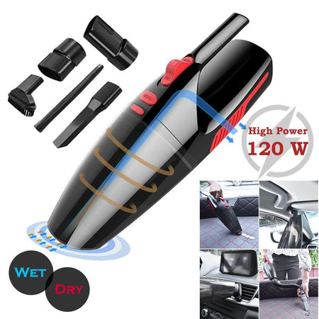 Wireless Vacuum 120W Portable Mini Wireless Car Rechargeable Vacuum Cleaner Super Suction Wet And Dry Dual Use
