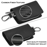 Carbon Fiber Audi Sline Key Pouch Car Key Wallet Holder