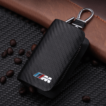 M Sport Carbon Fiber BMW M Sport Key Pouch Car Key Wallet Holder