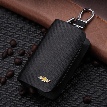 Chevrolet Carbon Fiber CHEVROLET Key Pouch Car Key Wallet Holder