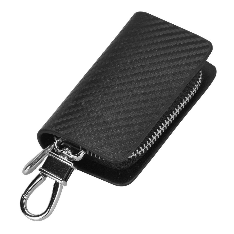 Ford Carbon Fiber FORD Key Pouch Car Key Wallet Holder