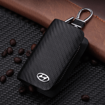 Hyundai Carbon Fiber HYUNDAI Key Pouch Car Key Wallet Holder