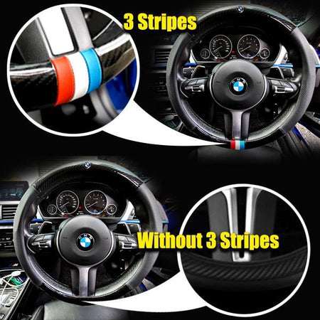 Carbon Fiber Leather Steering Wheel Cover
