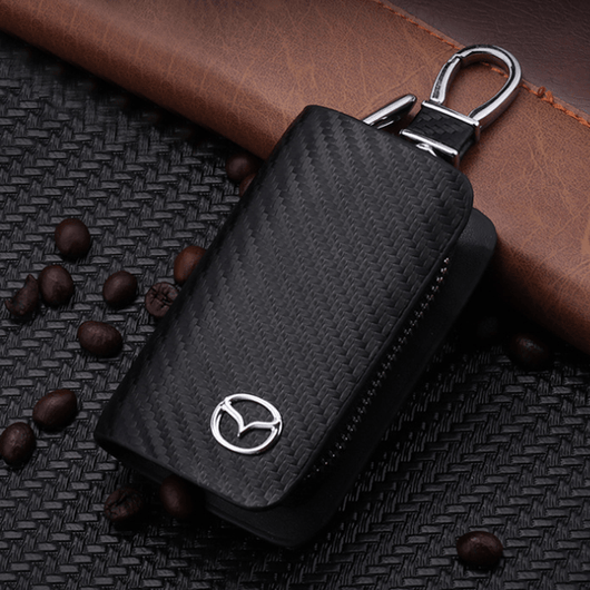 Lexus Carbon Fiber MAZDA Key Pouch Car Key Wallet Holder