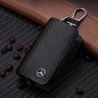 Mercedes Benz Carbon Fiber MERCEDES BENZ Key Pouch Car Key Wallet Holder