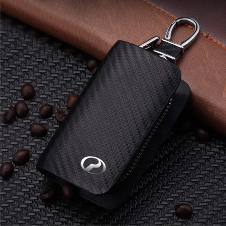 Carbon Fiber PERODUA Key Pouch Car Key Wallet Holder