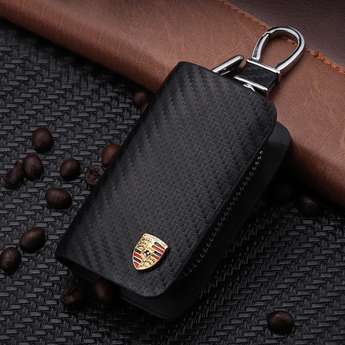 Porsche Carbon Fiber PORSCHE Key Pouch Car Key Wallet Holder