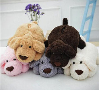 Brown Cartoon Plush Puppy Dog Car Tissue Box Storage Tissue Box Cover Paper Holder