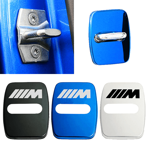DOOR LOCK COVER BLACK BMW Stainless Steel Door Lock Cover Case