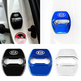 DOOR LOCK COVER BLACK KIA Stainless Steel Door Lock Cover Case