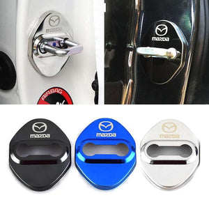 DOOR LOCK COVER BLACK MAZDA 01 MAZDA / MAZDA SPEED Stainless Steel Door Lock Cover Case