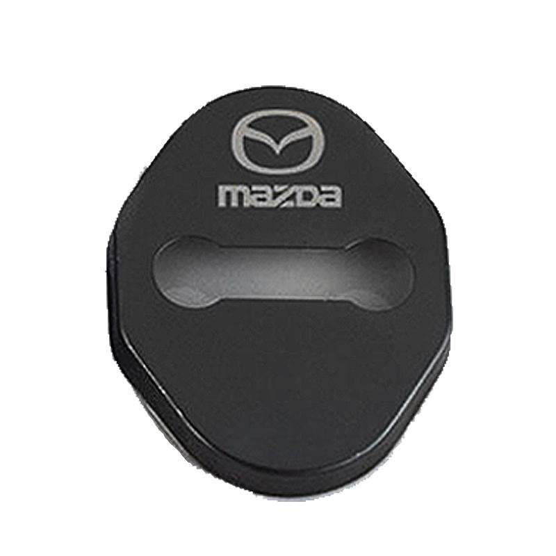 DOOR LOCK COVER BLACK MAZDA 02 MAZDA / MAZDA SPEED Stainless Steel Door Lock Cover Case