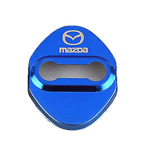 DOOR LOCK COVER BLUE MAZDA 01 MAZDA / MAZDA SPEED Stainless Steel Door Lock Cover Case