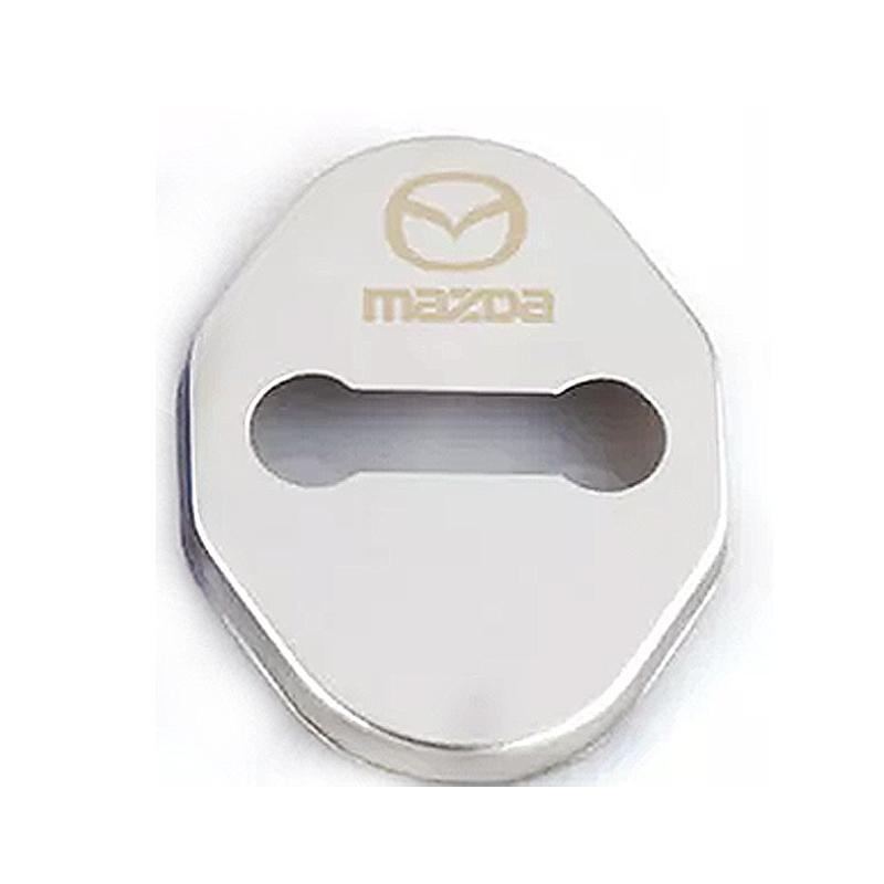 DOOR LOCK COVER SILVER MAZDA 02 MAZDA / MAZDA SPEED Stainless Steel Door Lock Cover Case