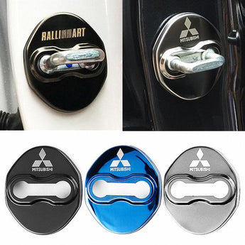 DOOR LOCK COVER BLACK MIT MITSUBISHI / RALLIART Stainless Steel Door Lock Cover Case
