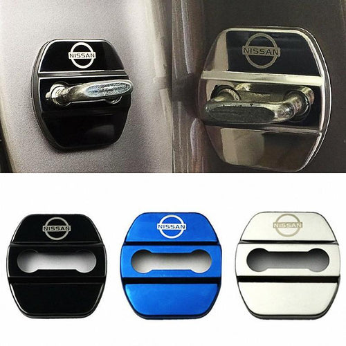 DOOR LOCK COVER BLACK 01 NISSAN / NISMO Stainless Steel Door Lock Cover Case