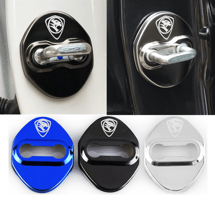 DOOR LOCK COVER BLACK Proton Stainless Steel Door Lock Cover Case