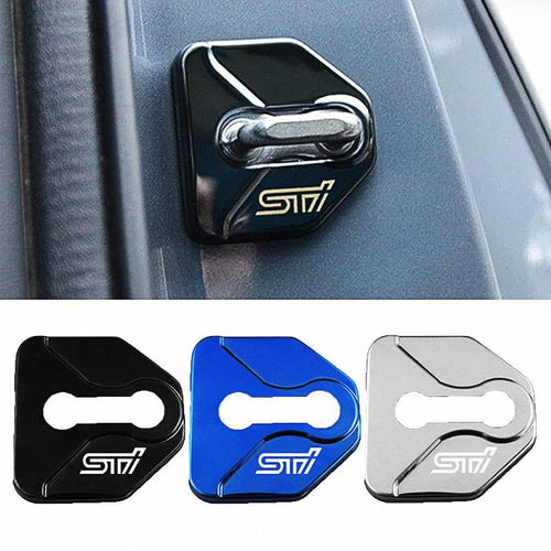 DOOR LOCK COVER BLACK SUBARU STI Stainless Steel Door Lock Cover Case