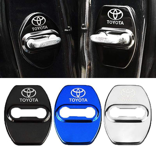 DOOR LOCK COVER BLACK TOYOTA / TRD Stainless Steel Door Lock Cover Case