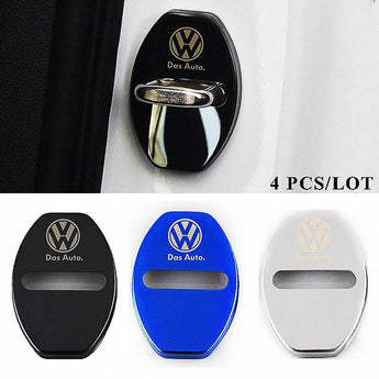 DOOR LOCK COVER BLACK VOLKSWAGEN Stainless Steel Door Lock Cover Case