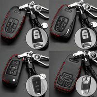Genuine Leather Key Cover AD-01-BB Audi Genuine Leather Key Cover