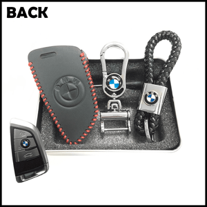Genuine Leather Key Cover 01 BLACK BMW Genuine Leather Key Cover