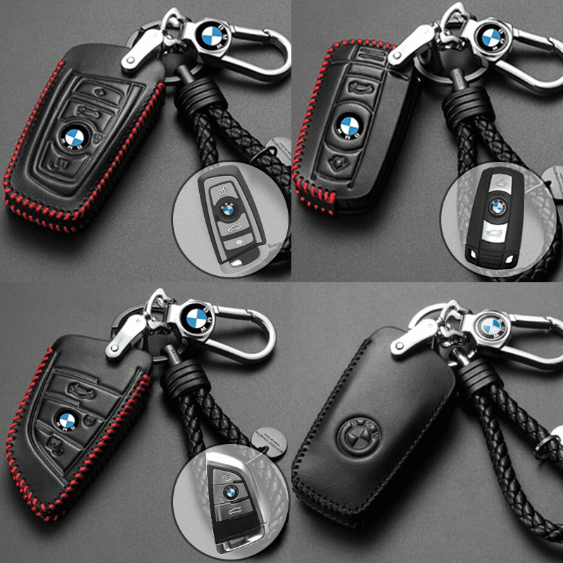 Genuine Leather Key Cover BMW-01-BB BMW Genuine Leather Key Cover