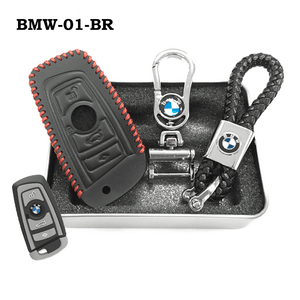 Genuine Leather Key Cover BMW-01-BR BMW Genuine Leather Key Cover